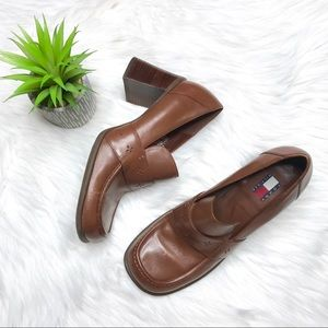 Tommy Hilfiger Vintage Chunky Heeled Loafers